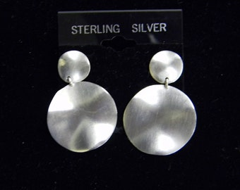 """Sterling Silver 925 Robert Lee Morris Plate Post Earrings 1 1/2"""" ET 6076"""