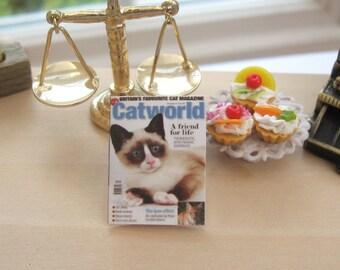 dollhouse  cat magazine  12th scale miniature
