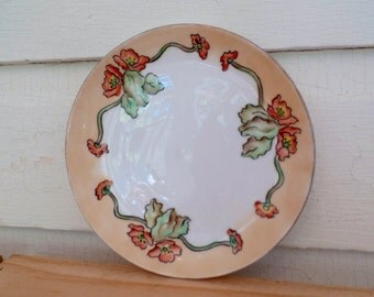Vintage JHR Bavaria Plate, Hand Painted and Signed by Mrs. Crosby, Hutschenreuther