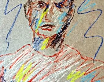 Original Pastel Sketch from Artisan - Brutes and Bullies