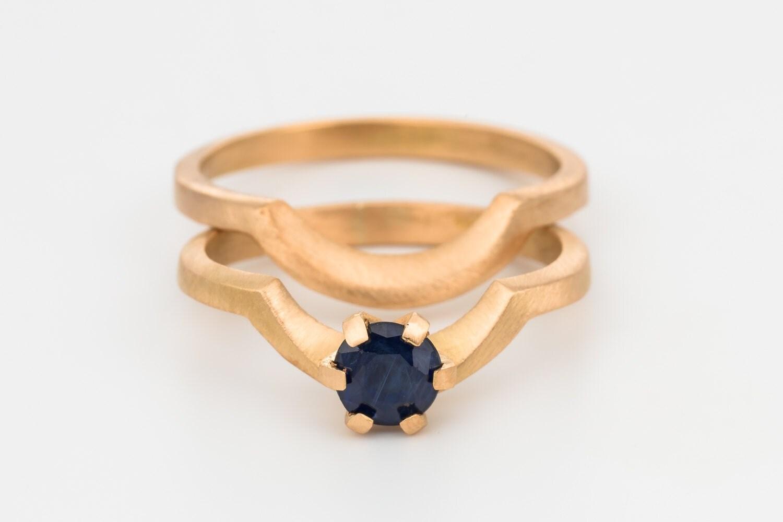 Wedding ring set art deco rose gold engagement ring art deco for Deco maison rose gold
