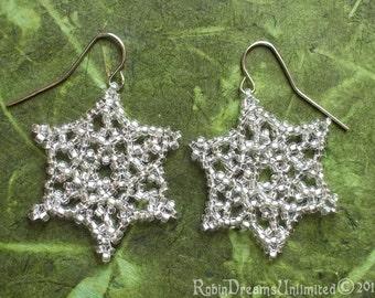 Mini Snowflake Beaded Earring