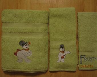 FROSTY THE SNOWMAN  3 Piece Towel Set