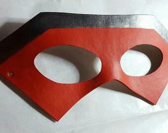 Danger Thunder Leather Cosplay Mask