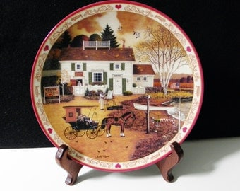 "Charles Wysocki Collectible Plate #236B ""Capturing the Moment at Birch Point Cove"""