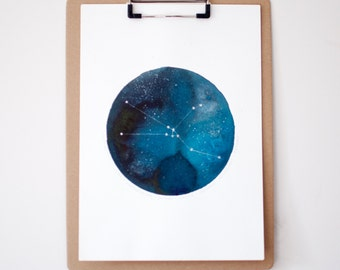 Star Sign 'Taurus' Constellation Personalised Painting