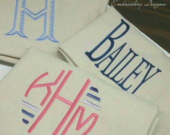 Monogrammed Laundry Bags Dorm College - Dirty Cloths Bag - School, Graduation, Dorm, College, Travel - College Colors Duffle - Overnight Bag
