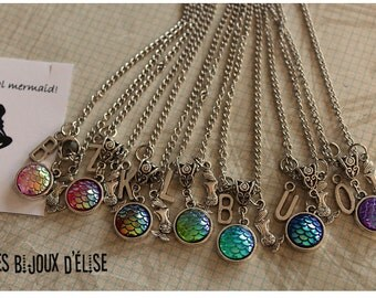 Sale - 1 Personalized Mermaid Scale Necklace