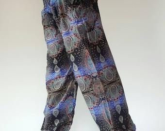 SM0089 Thai Genie Pants Comfy Trouser, Gypsy Pants Rayon Pants,Aladdin Pants Maxi Pants Boho Pants