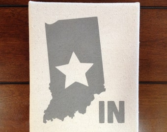 8in x 10in Indiana State Love Painting on Canvas