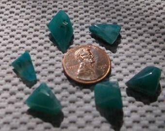 Gem Silica Chrysocolla beautiful tranlucent freeform Cabs Inspiration Mine