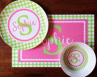 Plate, Bowl and Placemat Set -- any design