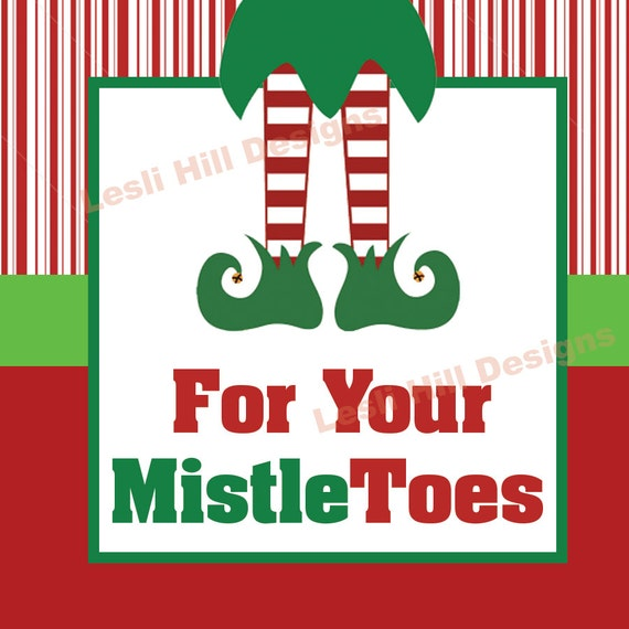foto de for your MISTLE TOES Tag with Elf Feet Mistletoes by