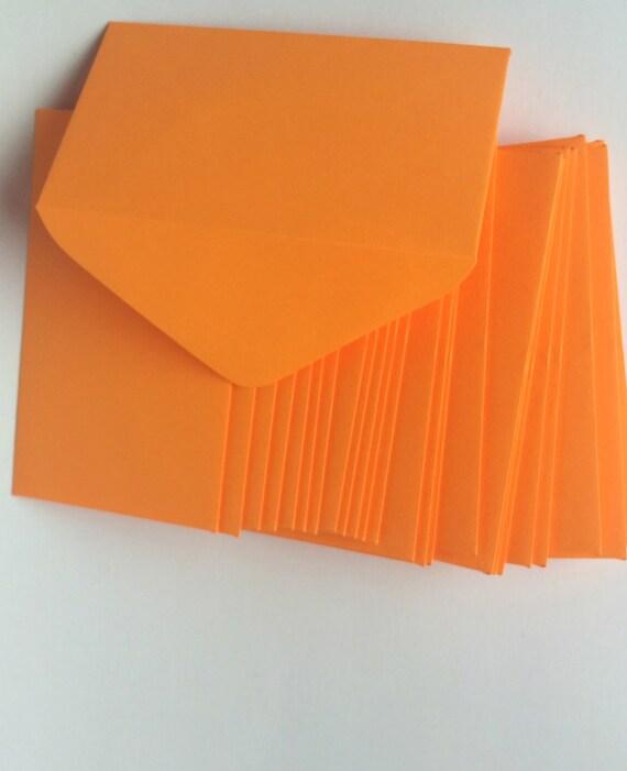 Bright orange florist enclosure cards color