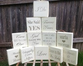 Bridal Shower Table Decor | Wedding Signs Decor | Personalized Wedding Table Centerpiece Decor | Outdoor Garden | Table Number Typography