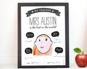 Printable Teacher Appreciation 'fill in the blanks'  poster