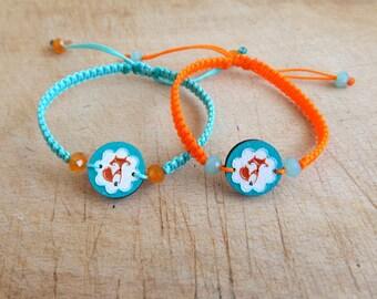 Fox bracelet - Wooden friendship bracelet - One bracelet