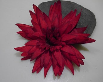Large Red Hair Flower