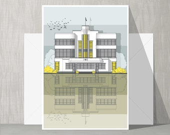 Architectural Blank Card - Hoover Building