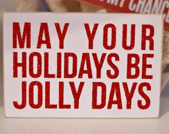Jolly Days Wooden Postcard