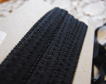 Black Scroll Gimp 1/2 Inch/Sewing/Upholstery Trim/11 yards total