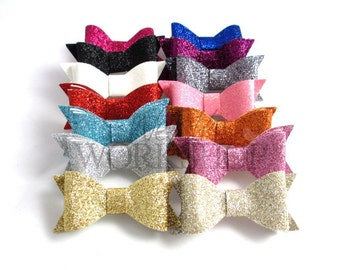 "Grab Bag of 10 Bows - 3"" Double Layer Glitter Bows - DLB-GB"