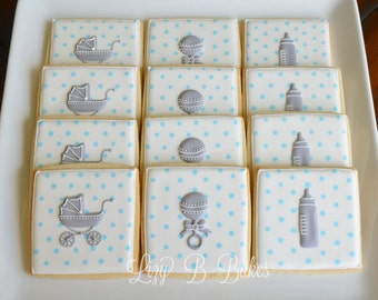 12 Shake, Rattle and Roll Baby Shower Cookies!