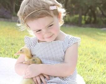 Pre Order Girl Dress, Spring Dress,  Girl Dress, Children Dress, Toddler Dress, Infant Dress, Baby Dress, Black and White, Polka Dot Dress,