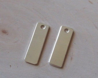 1 pc 18 gauge sterling silver tags , 5/16 inch by 1 3/4 inch rectangle stamping blanks