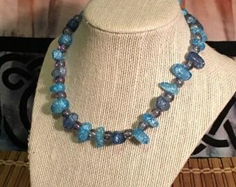The Frozen Ocean - A Handmade Beaded Necklace