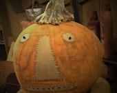 Primitive Pumpkin, Pumpkin Doll, Primitive Pumpkin Doll, Primitive Fabric Pumpkin, Primitive Fall, Halloween Pumpkin, OFG, FAAP