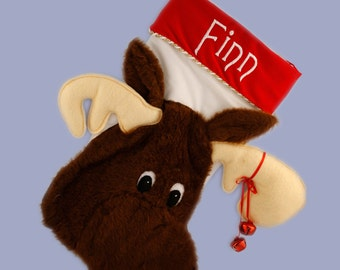 Personalized Christmas Stocking - Moose