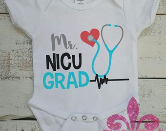 NICU Onesie. NICU Graduation. Hospital outfit. Newborn onesie. NICU Outfit. Little boy Onesie. Leg warmer Set.