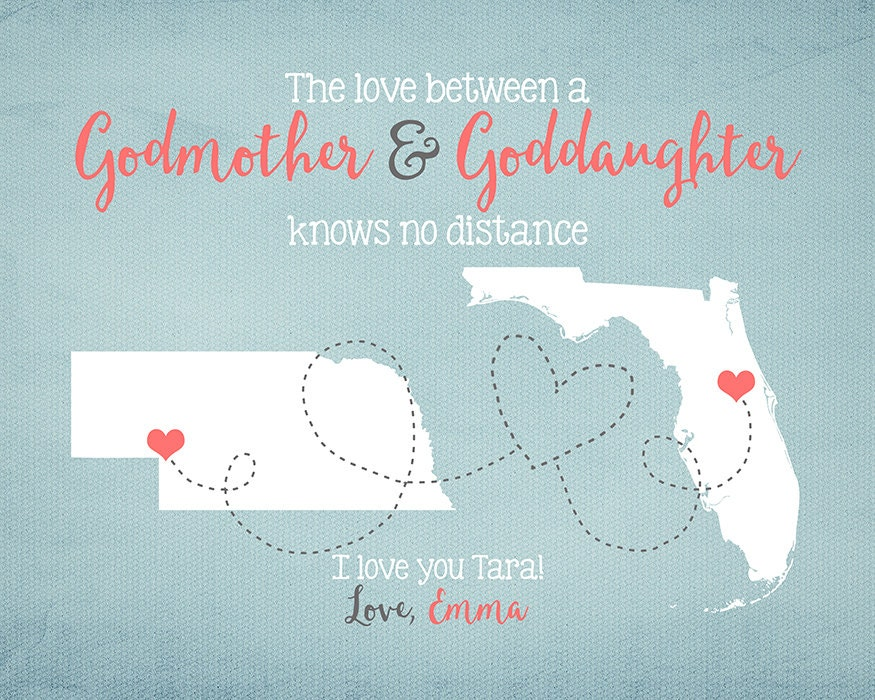 Godmother Gift Goddaughter Gift Long Distance Gift: Godmother Goddaughter Godson Gift Long Distance Friend