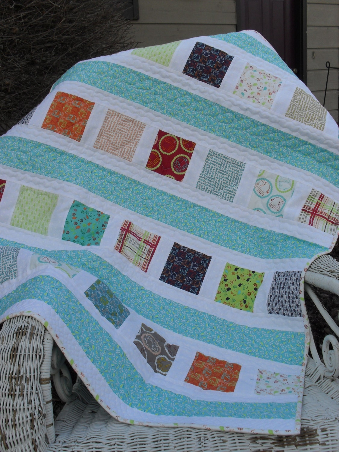Baby Gift Quilt : Baby quilt gift boy girl handmade
