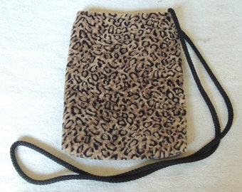 Animal print cell phone purse