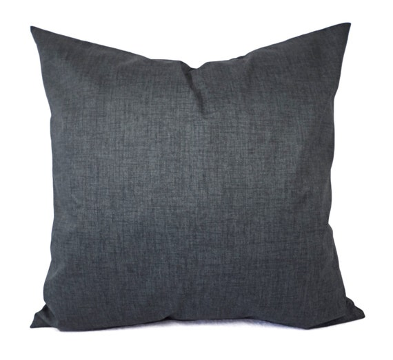 Grey Sofa Pillows: Two Dark Grey Pillow Covers Grey Throw By CastawayCoveDecor