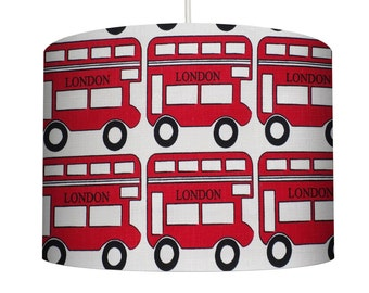 London bus / red bus lampshade