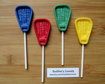 LACROSSE Chocolate Pops (12) - SPORTS Birthday/Lacrosse Team/Encouragement Gift/Lacrosse Party Favor/Coach Gift