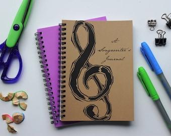 A Songwriter's Journal- 5 x 7 journal