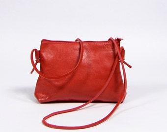 Stine - red leather purse