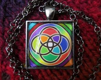 Multiplicity / Plurality Symbol - Multicolor - Gunmetal Rolo Chain