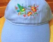 Hummingbird Embroidered o...