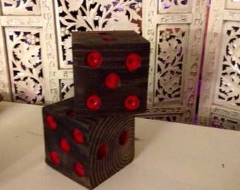 Large dice,Large wooden dice, lawn dice