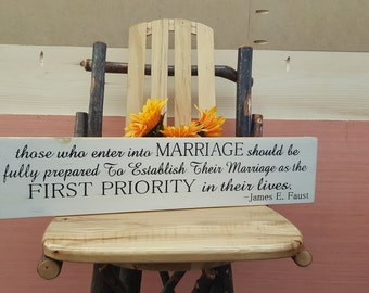 Those who enter into Marriage... Wedding Sign, Home Decor, Anniversary Sign, Rustic Sign