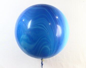 Marble Balloon, Blue Marble Balloon, Agate Balloons, Blue Balloons, Giant Balloon, Photo Prop, Birthday Ballon, Party Balloon, Large Balloon