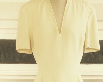 Timeless vintage Armani gown in cream silk