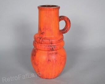 Scheurich West German Pottery vase  428-26 -   FIRE  - Wien Serie
