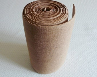 Extra Wide Deluxe 8 inch Caramel Elastic, Corset Elastic,  Large Caramel Elastic, Waist Cincher Elastic - 1 Metre