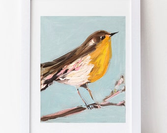 Bird Art, print, whimsical bird art